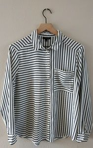 TopShop mixed stripe blouse